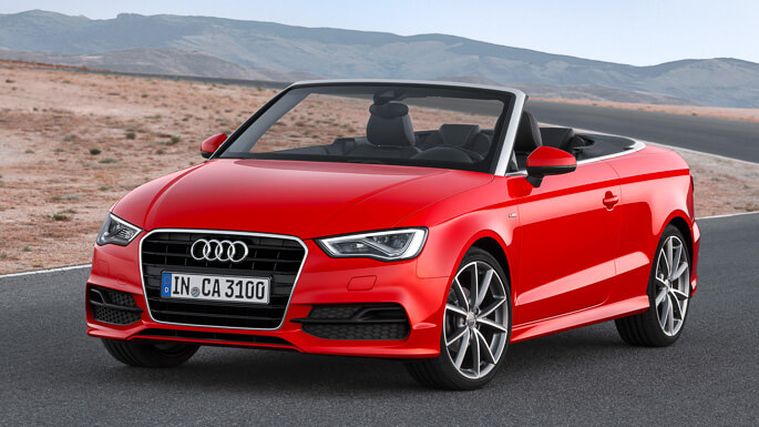 audi A3 cabriolet new Front