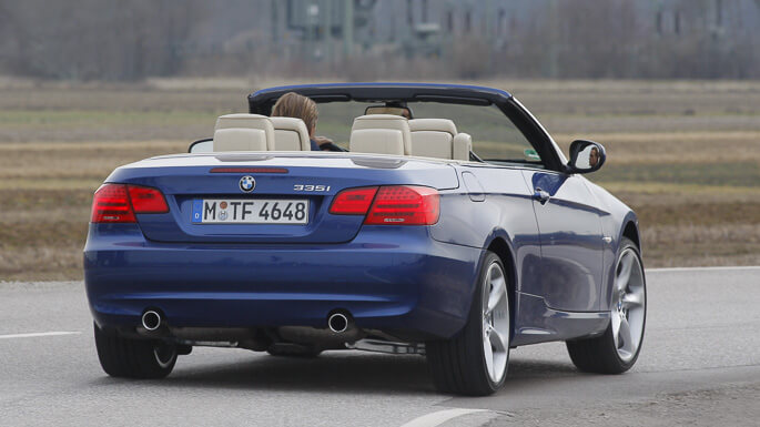 bmw 3 series cabrio 2007 Rear