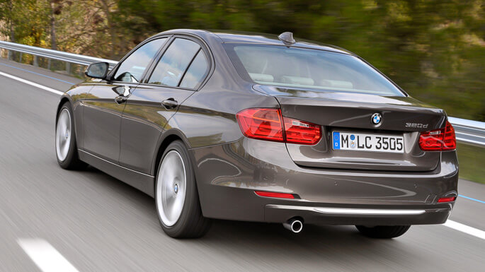 bmw 3 series 2012 Rear