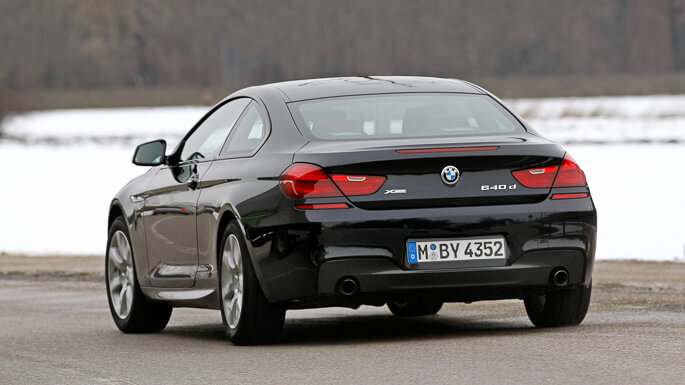bmw 6 series coupe 2012 Rear