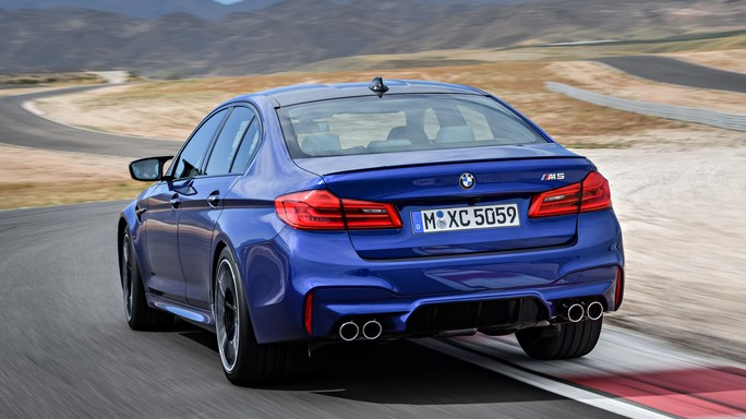 bmw M5 new Rear