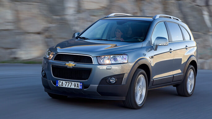 chevrolet captiva new Front