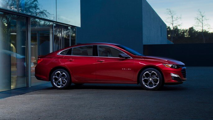 chevrolet malibu new Side