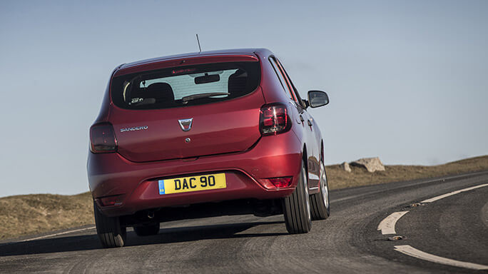 dacia sandero new Rear