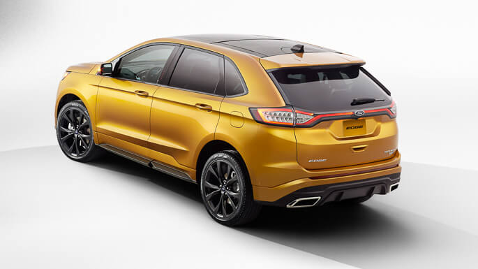 ford edge new Rear
