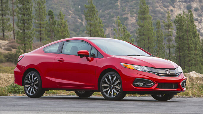 honda civic coupe 2015 Front