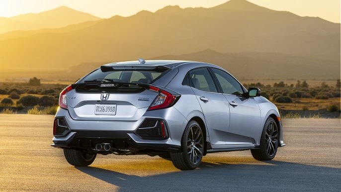 honda civic hatchback new Rear