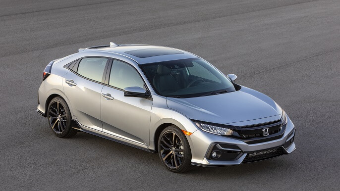 honda civic hatchback new Side
