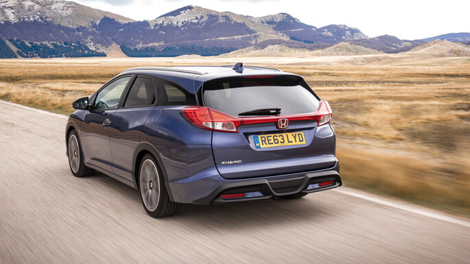honda civic tourer 2014 Rear
