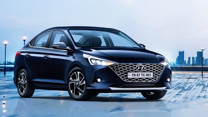 hyundai accent new Front