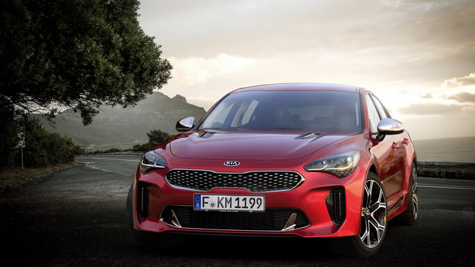 kia stinger new Front