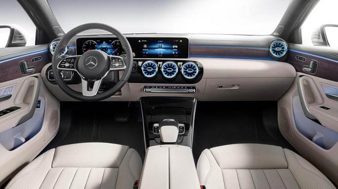 mercedes A class sedan new Interior