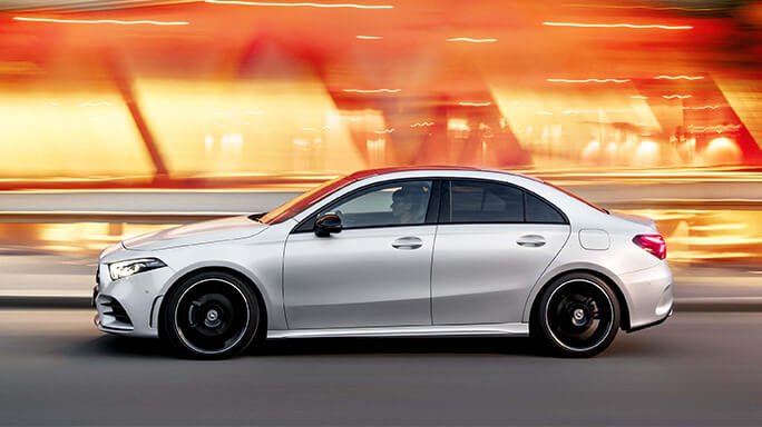 mercedes A class sedan new Side