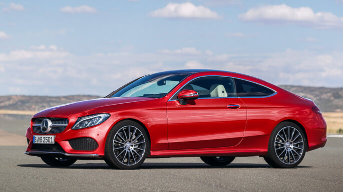 mercedes C class coupe new Front