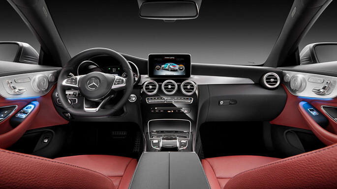 mercedes C class coupe new Interior