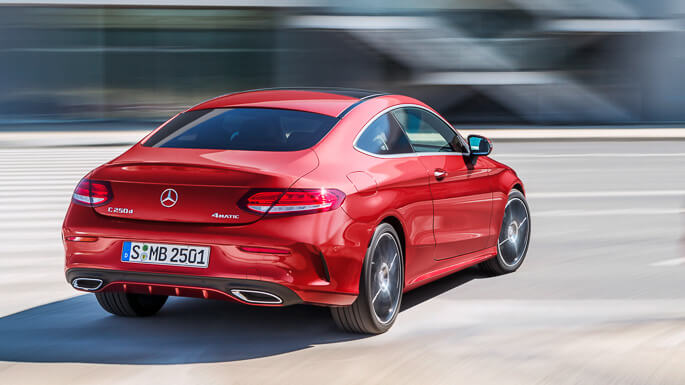 mercedes C class coupe new Rear