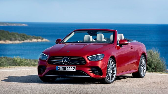 mercedes E class cabriolet new Front