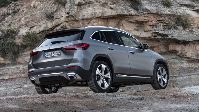 mercedes GLA new Rear