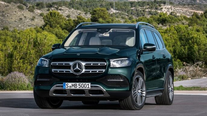 mercedes GLS new Front