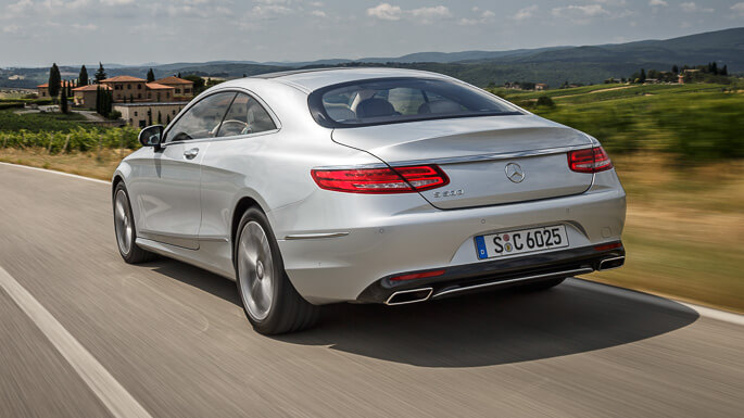 mercedes s class coupe new Rear