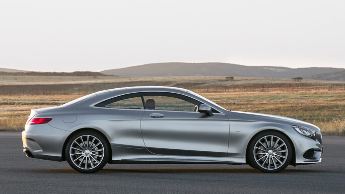 mercedes s class coupe new Side