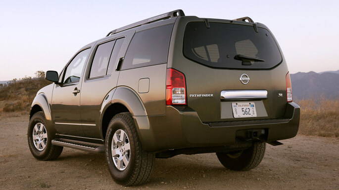 nissan pathfinder 2005 Rear