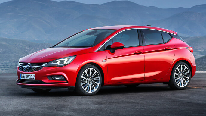 opel astra new Front