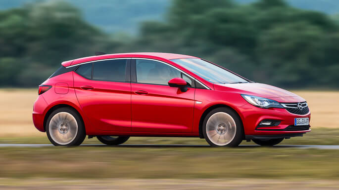 opel astra new Side