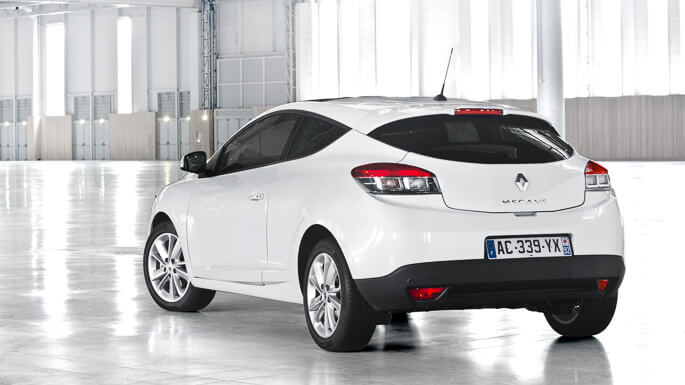 renault megane coupe 2011 Rear