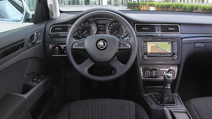 skoda superb 2009 Interior