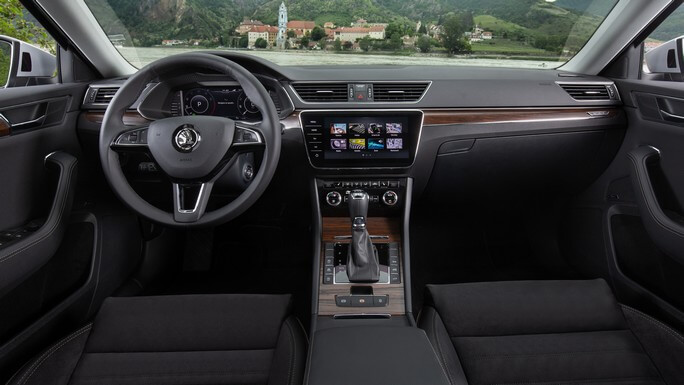 skoda superb new Interior