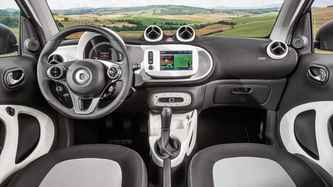 smart fortwo new Interior