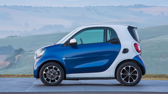 smart fortwo new Side