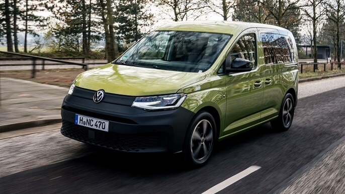 volkswagen caddy new Front