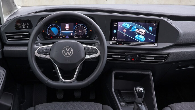volkswagen caddy new Interior