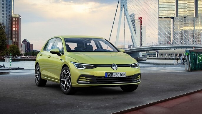 volkswagen golf new Front