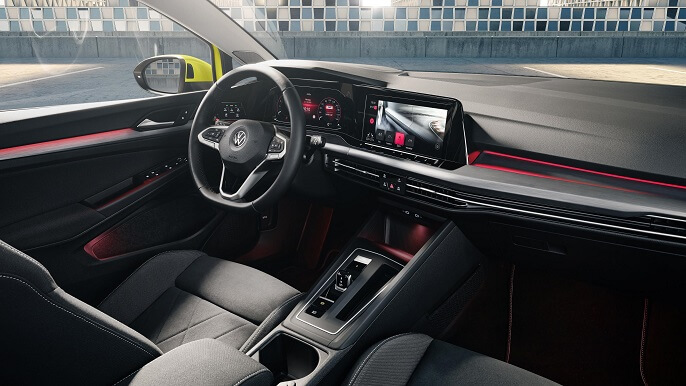 volkswagen golf new Interior