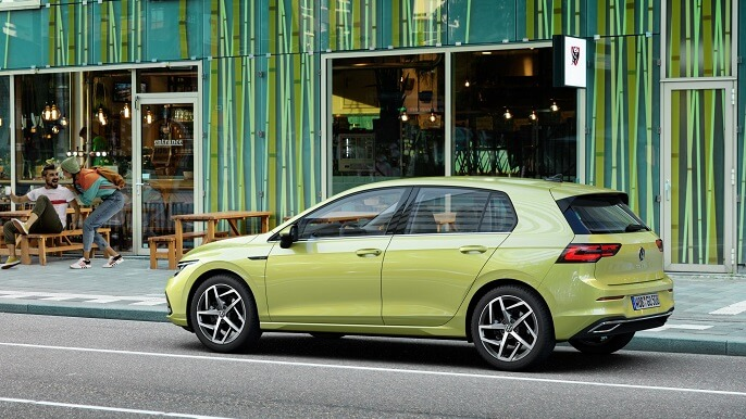 volkswagen golf new Side
